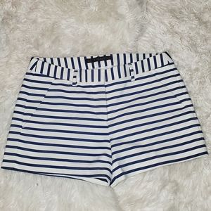 ZARA BLUE AND WHITE STRIPED SHORTS- SIZE SMALL